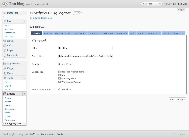 Wordpress Aggregator For WordPress WordPress Aggregators