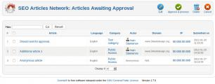 Articles awaiting approval