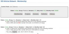 User: membership subscriptions
