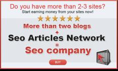 SEO Articles Network = Seo company