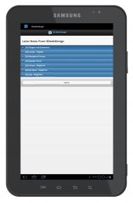 Android App - Home page on Tablet 10-inch