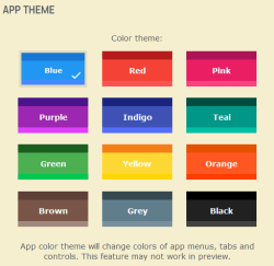 color schemes for Android app