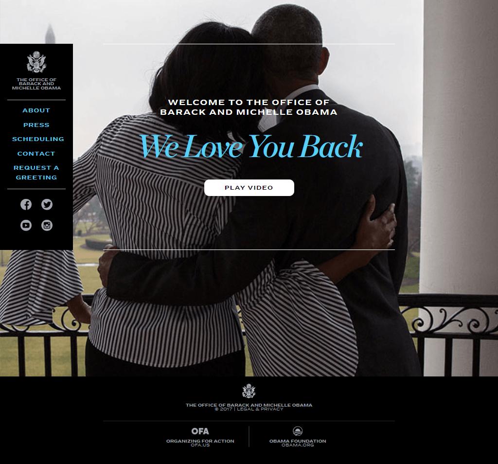 Barack Obama сайт