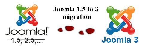 Joomla 1.5 to Joomla 3 migration